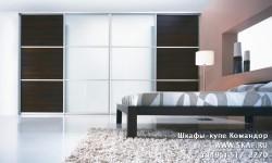Шкаф купе для спальни с матовым стеклом