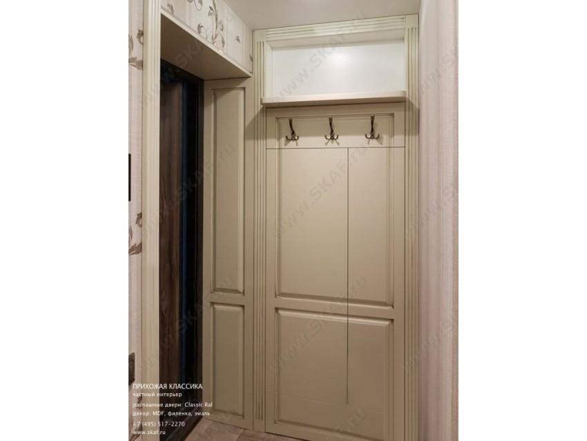 Прихожая Классика 004 с распашными дверьми из МДФ, декорированный патиной